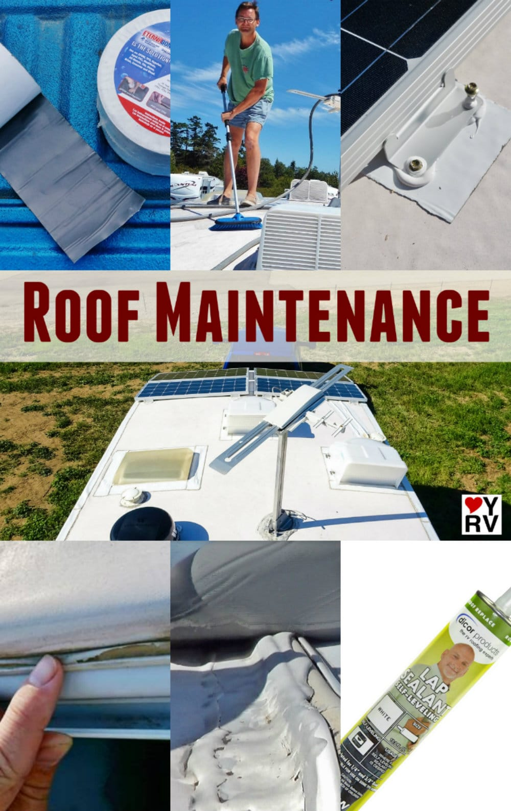Tips and tricks and advice for maintaining your RVs rubber roof to prevent leaks https://www.loveyourrv.com