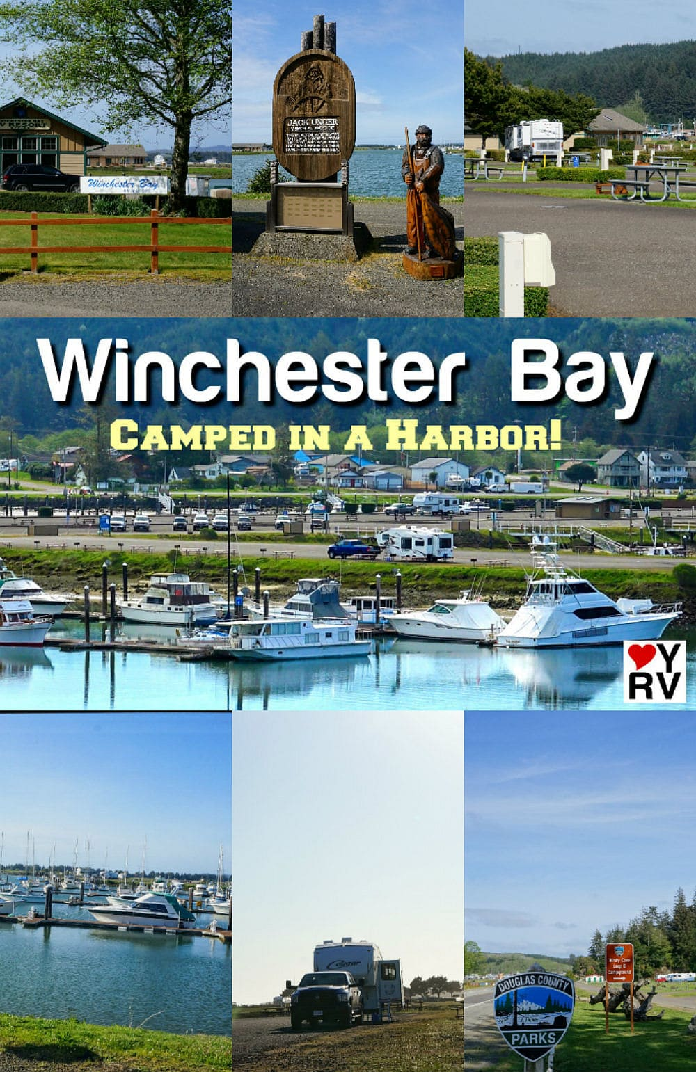 Winchester Bay Salmon Harbor Marina Camping on the Oregon Coast - Love Your RV -https://www.loveyourrv.com