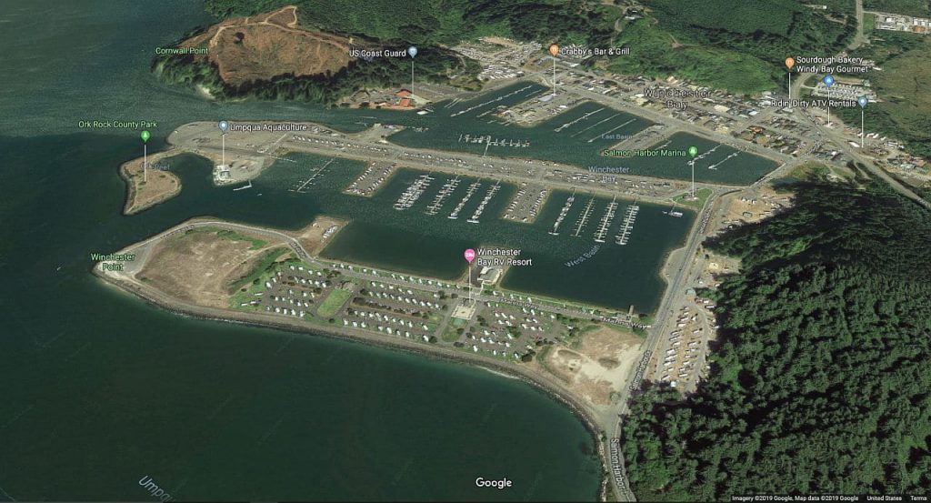 Winchester Bay Sat Photo