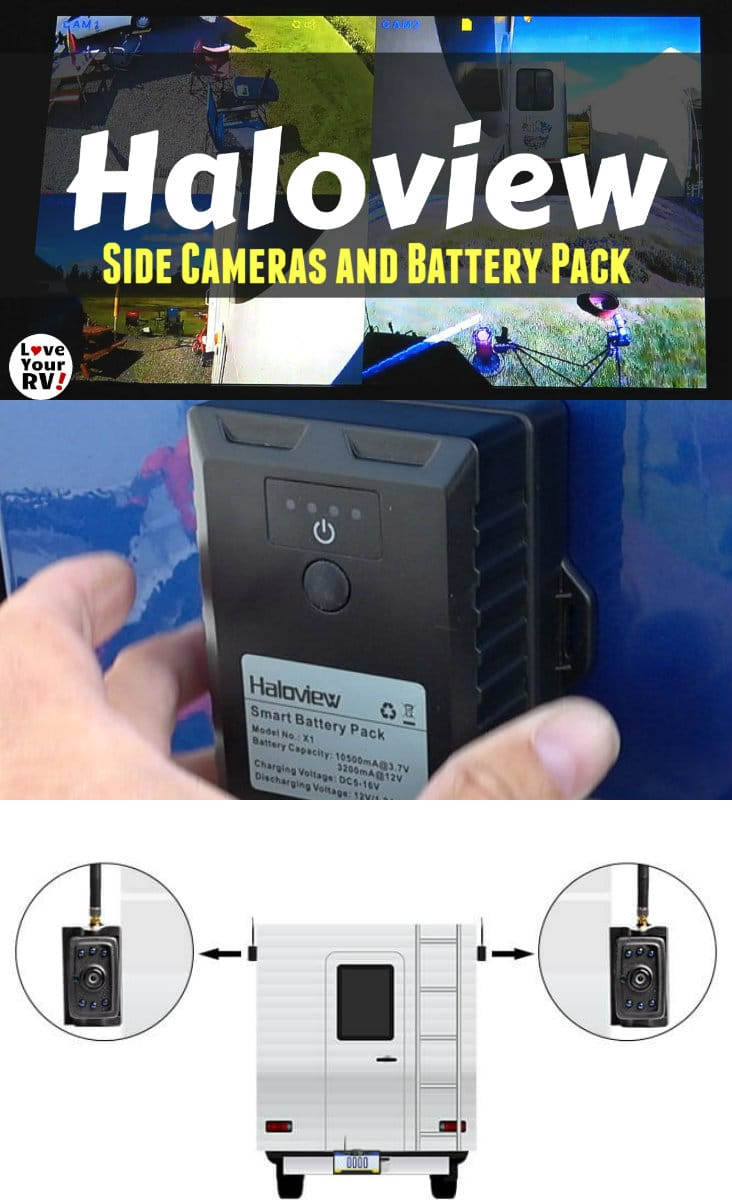 Video demoing the Haloview Side Mounted Wireless RV Back Up Cameras and the Rechargeable Battery Pack