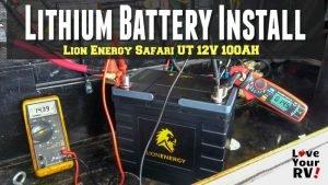 Lion Energy Safari UT 12V 100AH Lithium Battery Installation Feature Photo