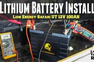 Lion Energy Safari UT 12V 100AH Lithium Battery Installation Feature Photo