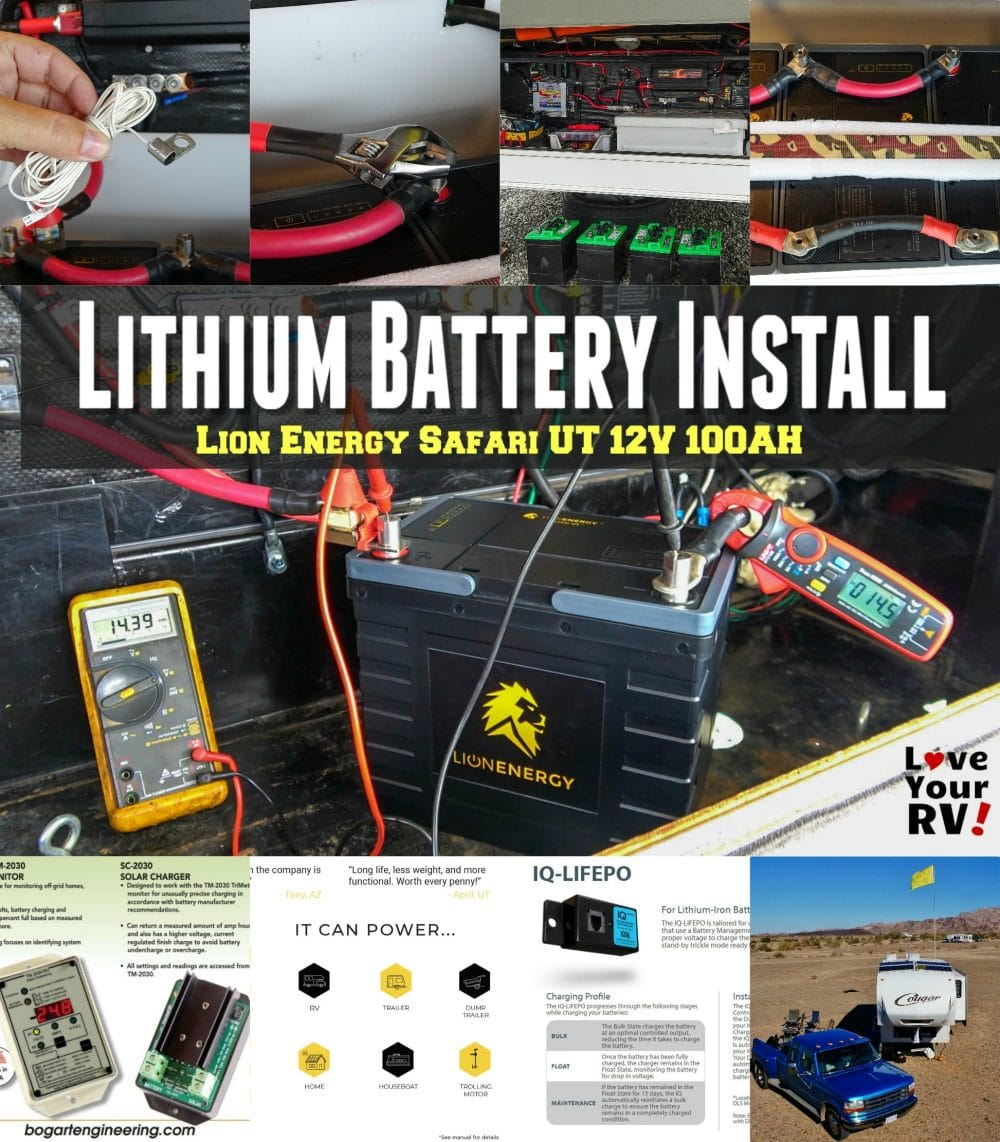 Lion Energy Safari UT 12V 100AH Lithium Battery Installation