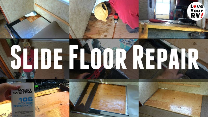 Rotted RV Slide Out Floor Repair + Fixed Manufacturer Flaw