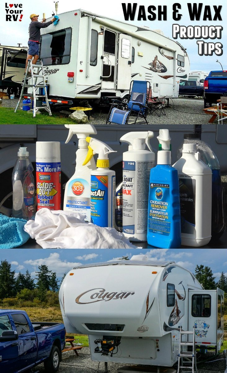 Product tips for cleaning and waxing the RV