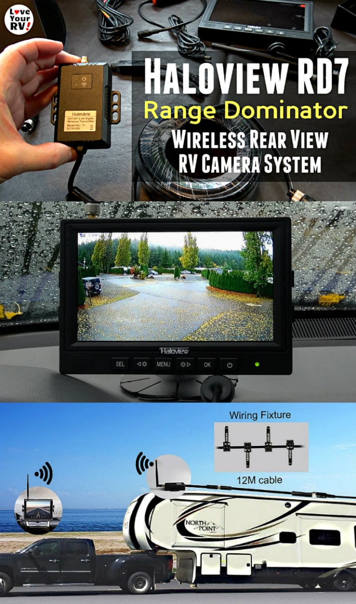 Demo of the Haloview RD7 Range Dominator Wireless RV RearView Camera System