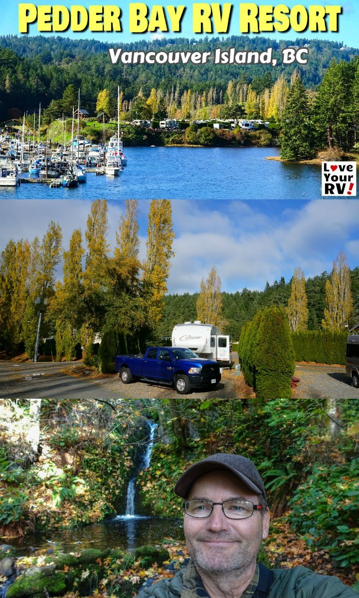 Review video of the Pedder Bay RV Resort and Marina on Vancouver Island BC near Victoria