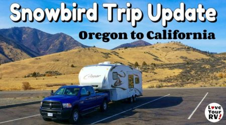 Oregon to California – 4 Free Overnight Stops (Snowbird Trip Update)