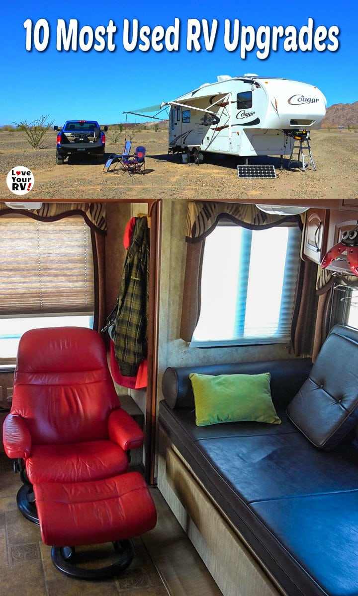 10 Most Used RV Upgrades we have made to our 2011 Keystone Cougar fifth wheel trailer
