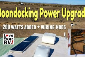 Boondocking System Upgrades New Wiring 200 watts Feature Photo
