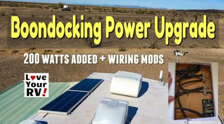 Boondocking Power Upgrade – 200 Watts + Wiring Update & Mods
