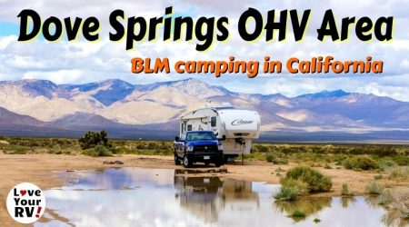 Boondocking at Dove Springs OHV Area in California