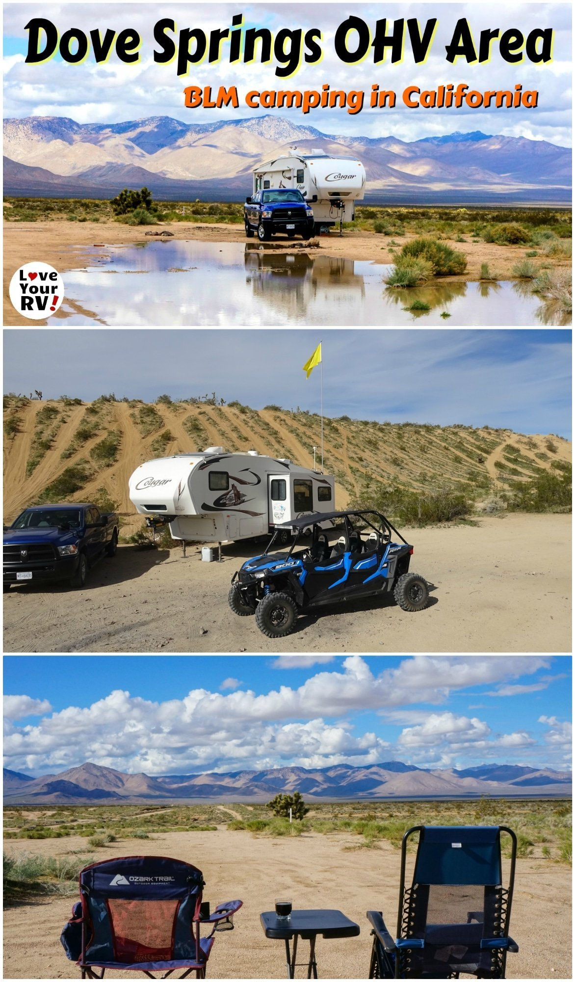 Free BLM camping in California at the Dove Springs OHV area