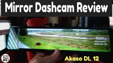 Akaso DL12 Rear View Mirror Dash Cam Review