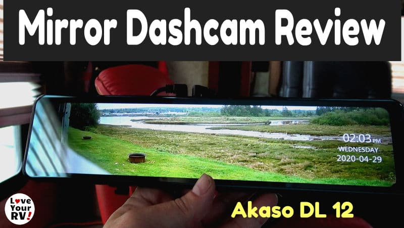 Akaso DL12 Mirror Dashcam Feature Photo
