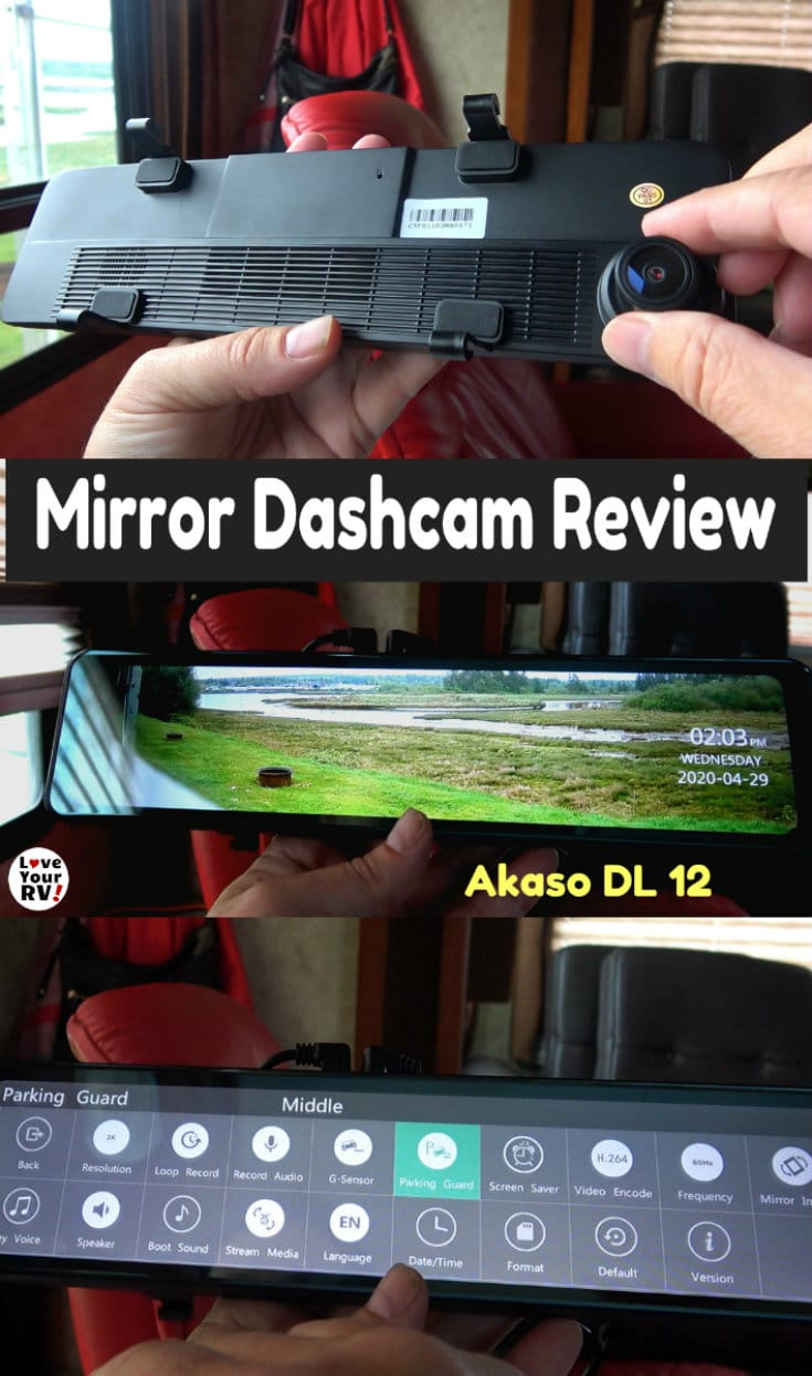 Akaso DL12 Rear View Mirror Dash Cam Review Unbox, Install & Demo plus likes and dislikes
