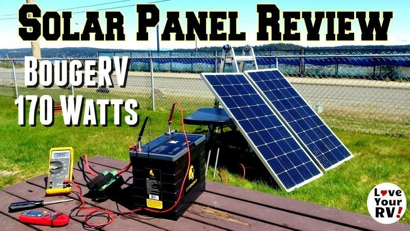 BougeRV 170 Watt Solar Panel Review Feature Photo
