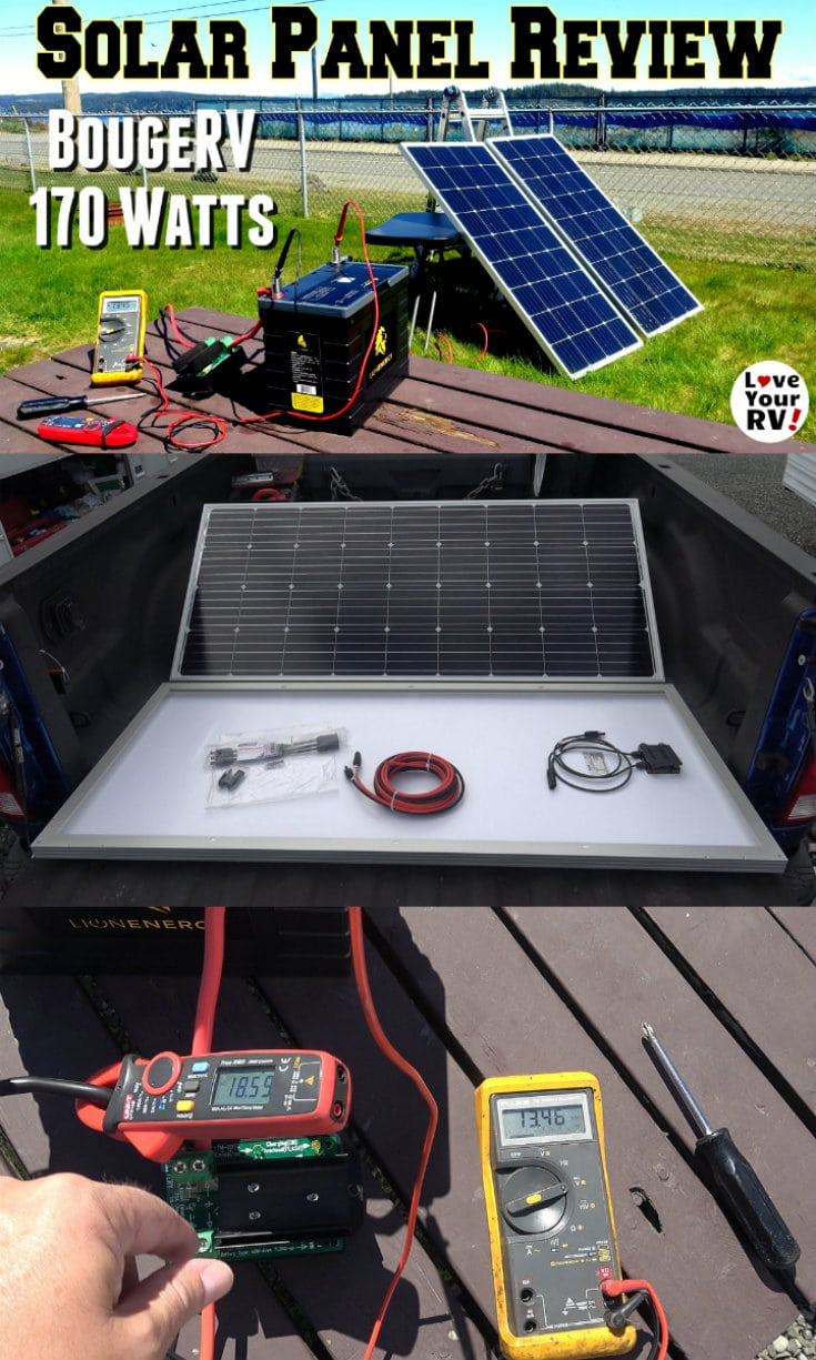 BougeRV 170 watt solar panel test and review