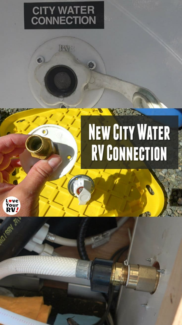 Replacing Faulty RV City Water Connection - Weeping Check Valve
