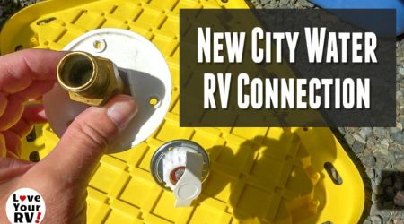 Replacing Faulty RV City Water Connection – Weeping Check Valve
