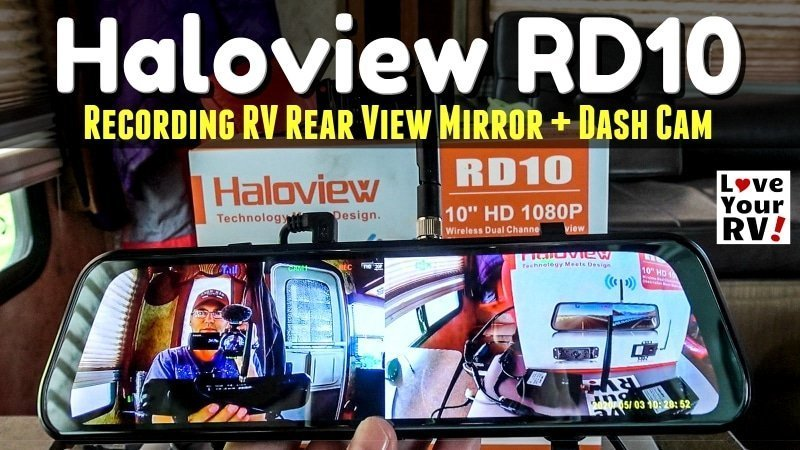 Haloview RD10 RearView Mirror Dash Cam Feature Photo