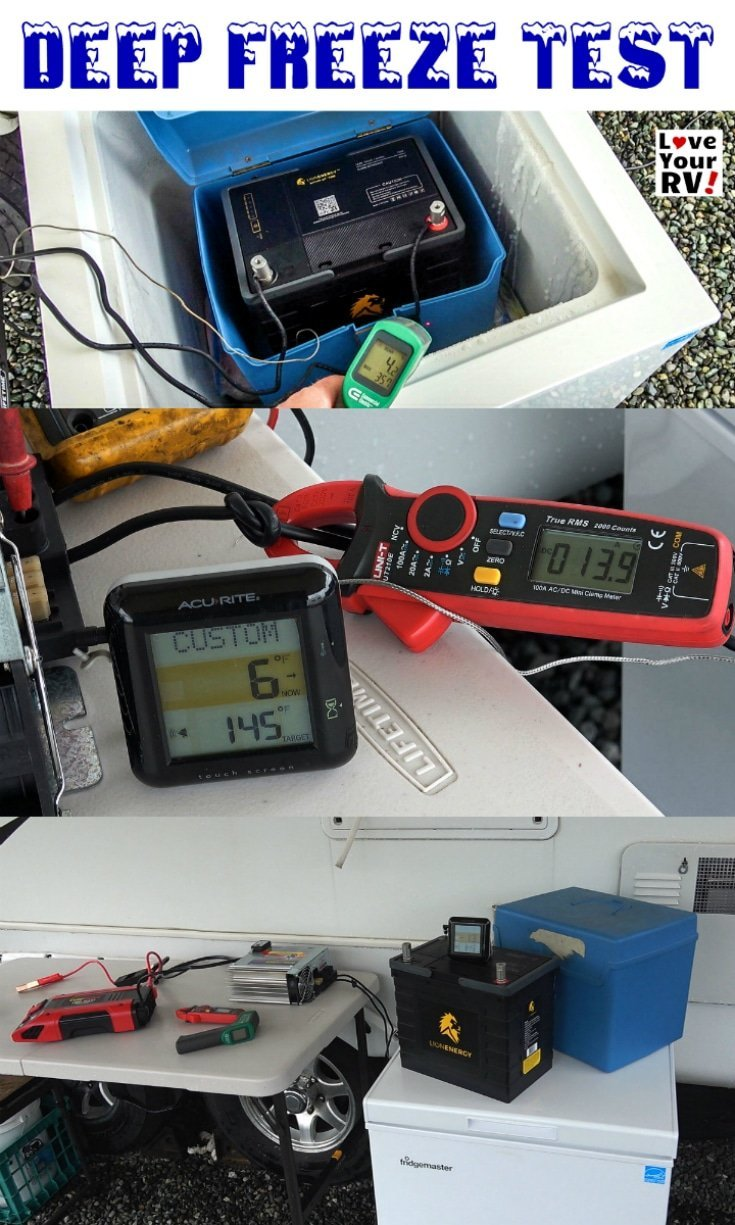 Lithium RV Battery DEEP FREEZE Test - Lion Energy Safari UT1300