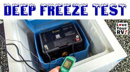 Lithium RV Battery DEEP FREEZE Test (Lion Energy Safari UT1300)