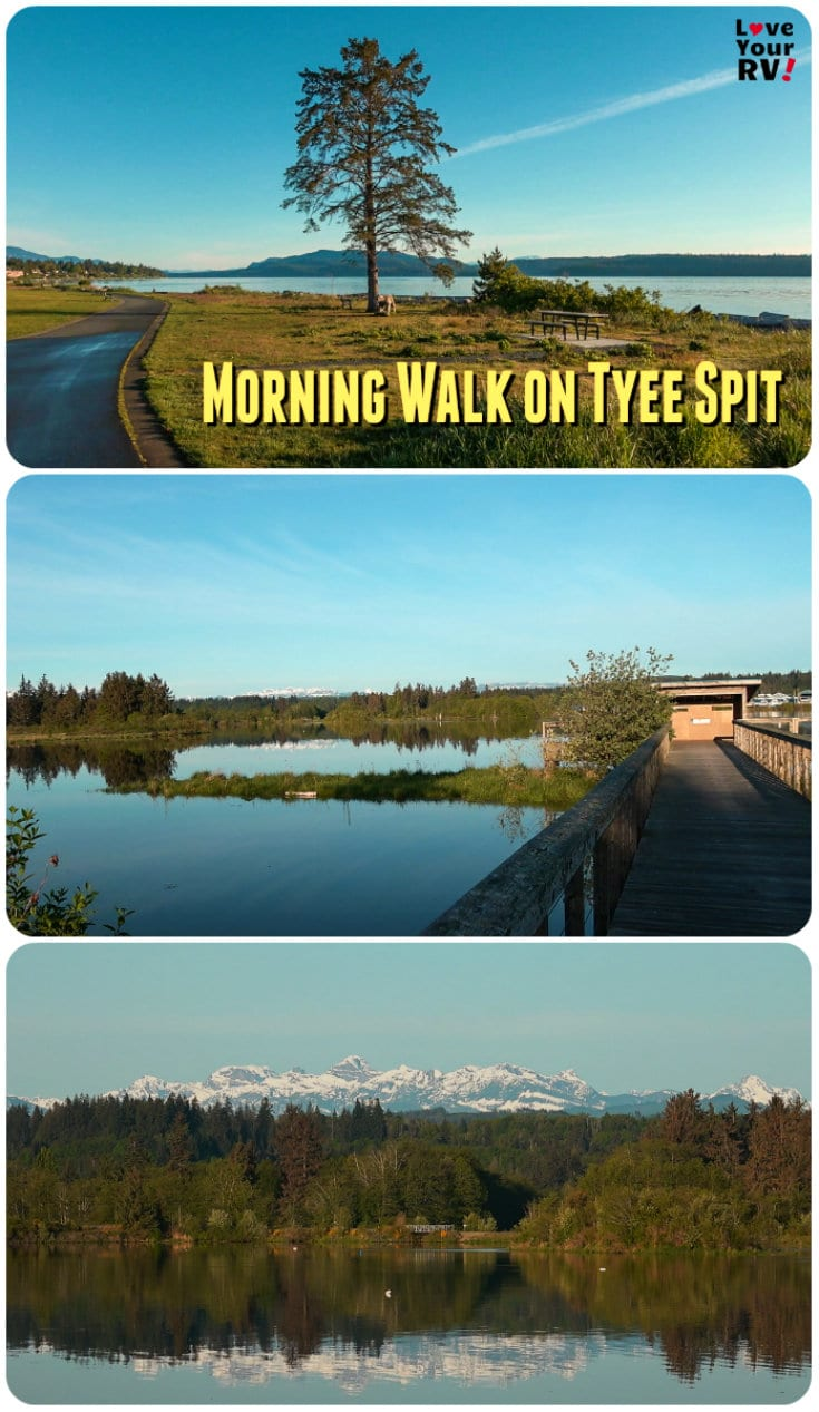 Video footage of my early morning walk on the Tyee Spit in Campbell River on Vancouver Island British Columbia