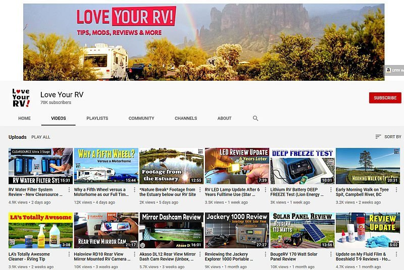 LYRV YouTube Page