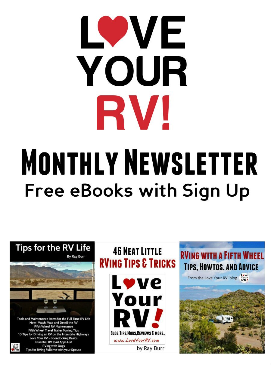 Love Your RV! Newsletter Archive Pin