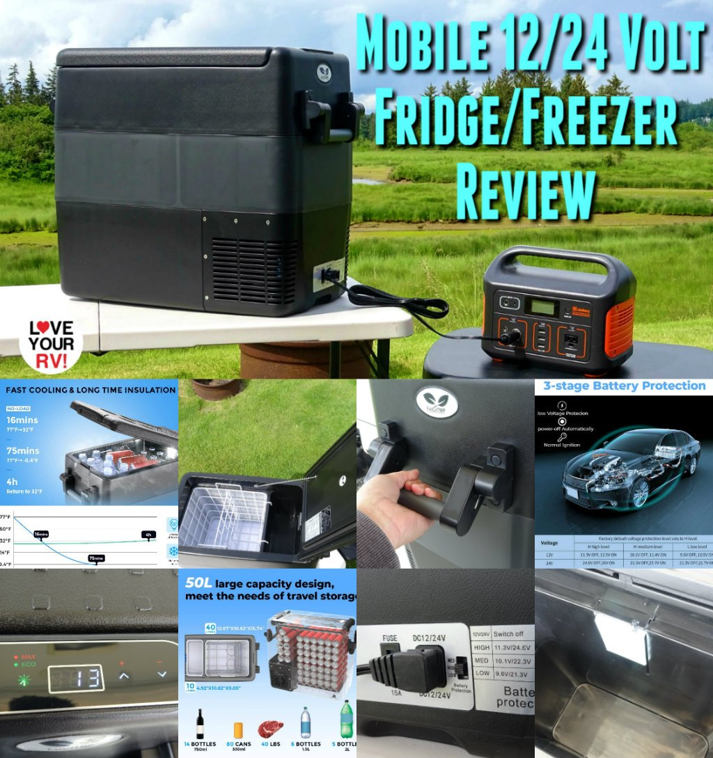 F40C4TMP Mobile AC DC Combo Fridge Freezer Review from BougeRV