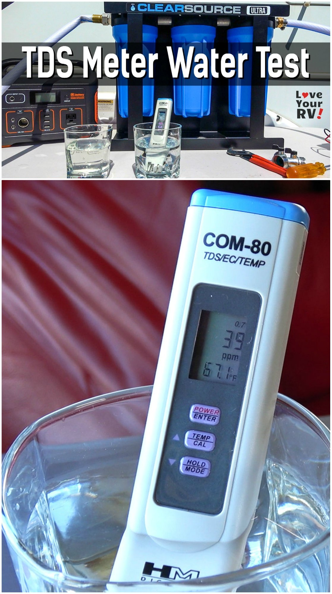 RV Water Testing with a TDS Meter Total Dissolved Solids