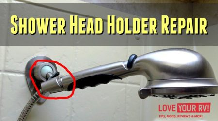 Repairing Cracked RV Shower Head Holder (Oxygenics Fury RV)