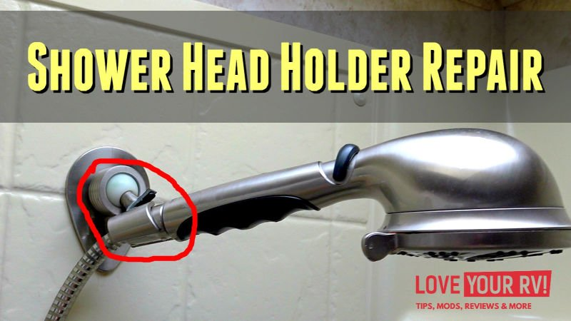 Repairing Busted Oxygenics Shower Head Holder Feature Photo