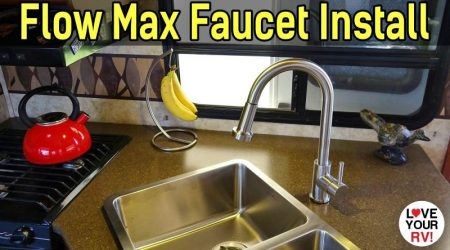 LCI Flow Max Stainless Steel RV Faucet Installation + New Sink