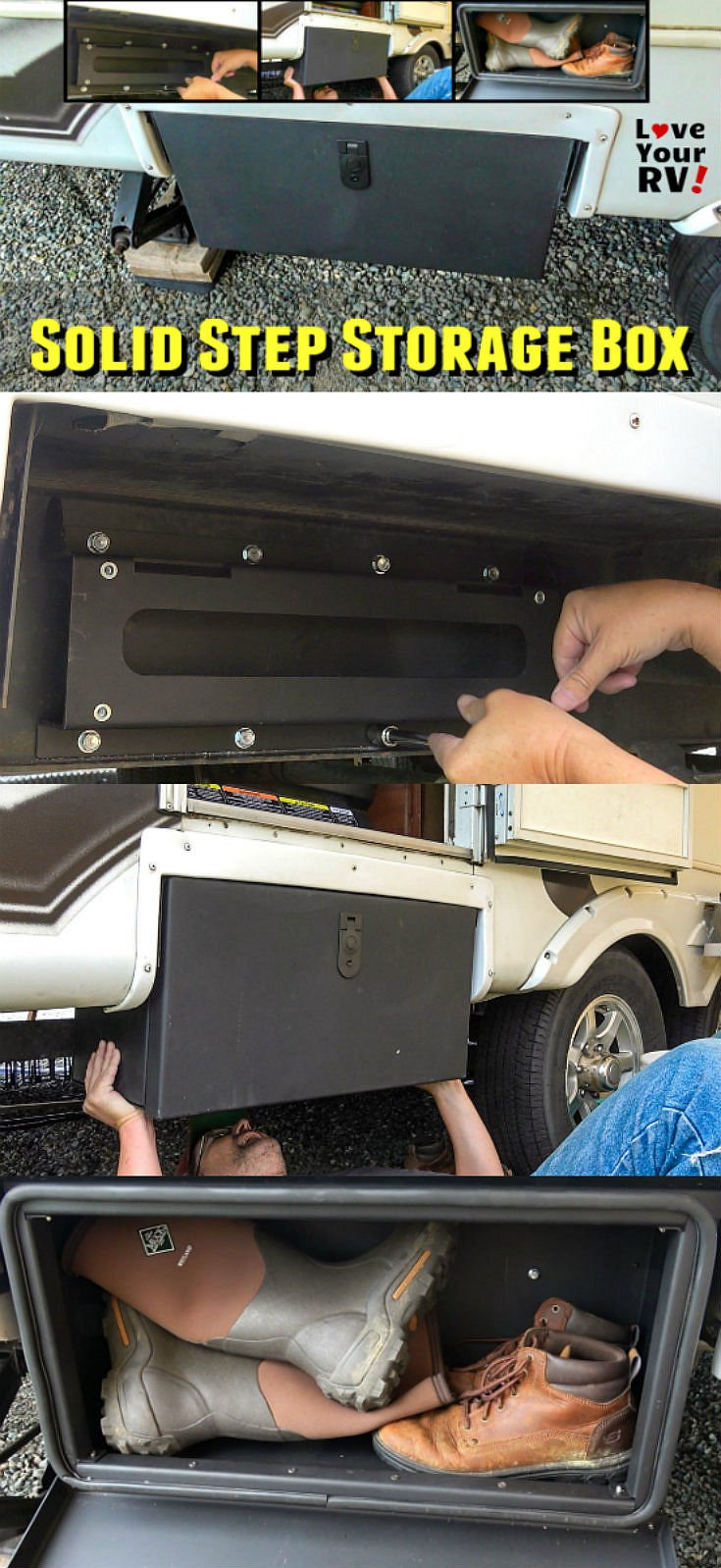 Installing a Solid Step Storage Box from Lippert Components