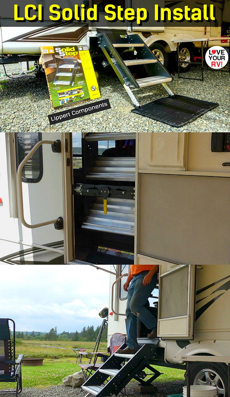 Installing a set of LCI Solid Step RV Stairs on our Keystone Cougar Fifth Wheel Trailer