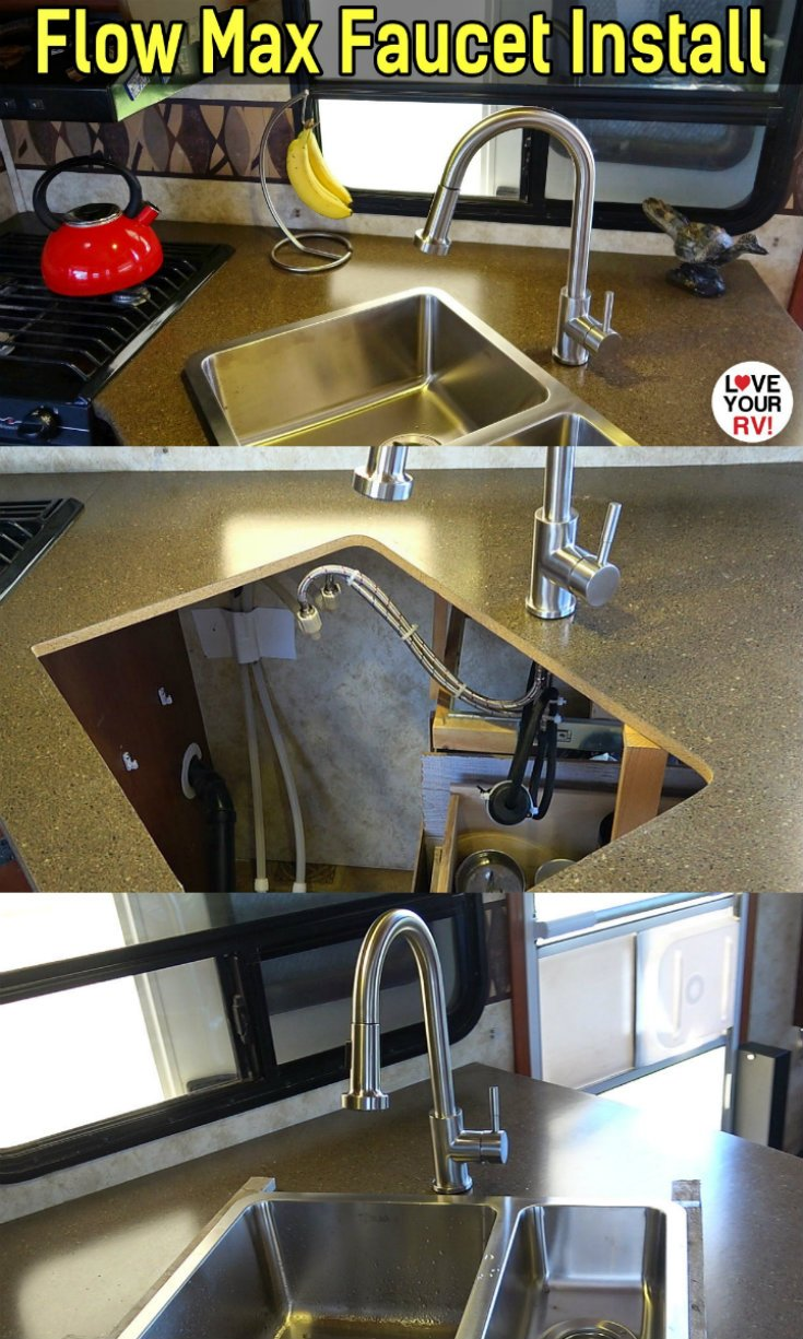Installing a Flow Max Stainless Steel RV kitchen faucet from Lippert Components