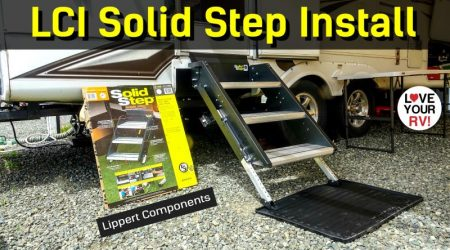 Installing the LCI Solid Step RV Entrance Stairs