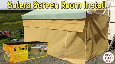 LCI Solera RV Awning Screen Room Installation