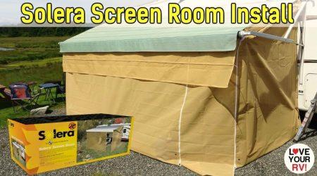 LCI Solera RV Awning Screen Room Installation