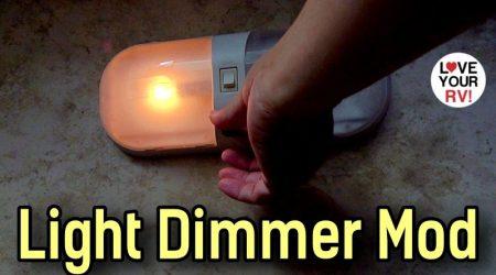 DIY Adjustable Dimmer Mod – 12V RV Bedroom Light