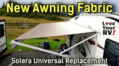 New RV Awning Fabric Installation – Solera Universal Replacement from LCI