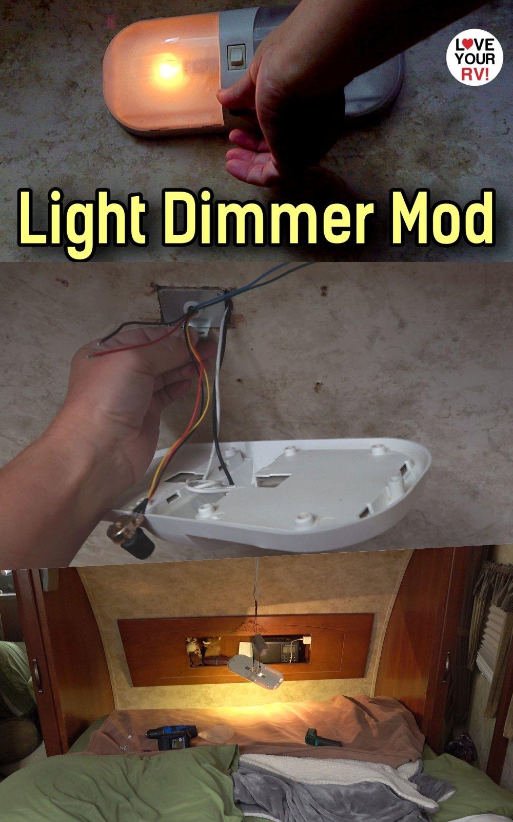 RV 12V Light Dimmer Mod using a PWM motor controller box