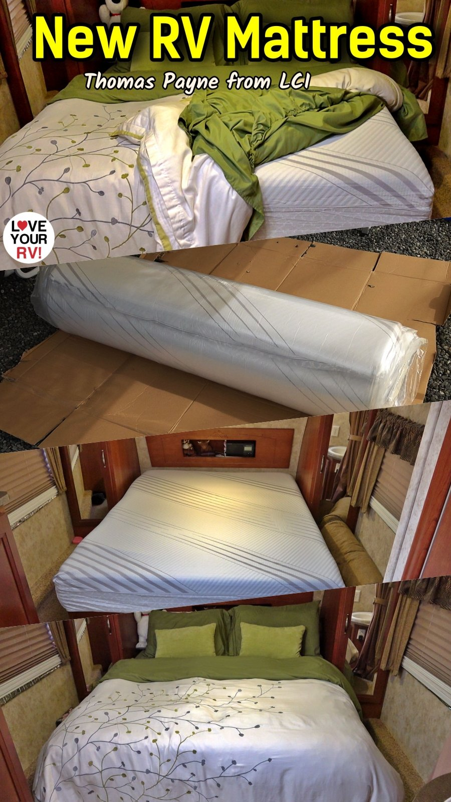Review of the new Thomas Payne RV Foam Mattress from (LCI) Lippert Components Inc