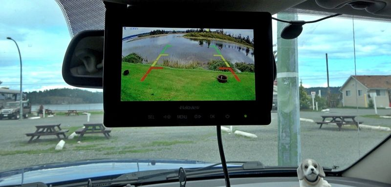 Haloview Display Mounted on the Rearview Mirror