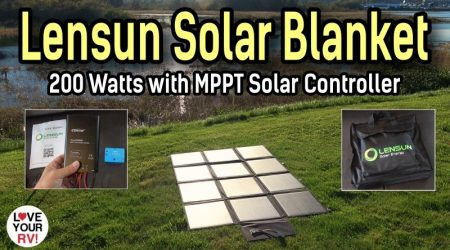 200W Lensun Solar Blanket – Ultra Portable Solar Power System