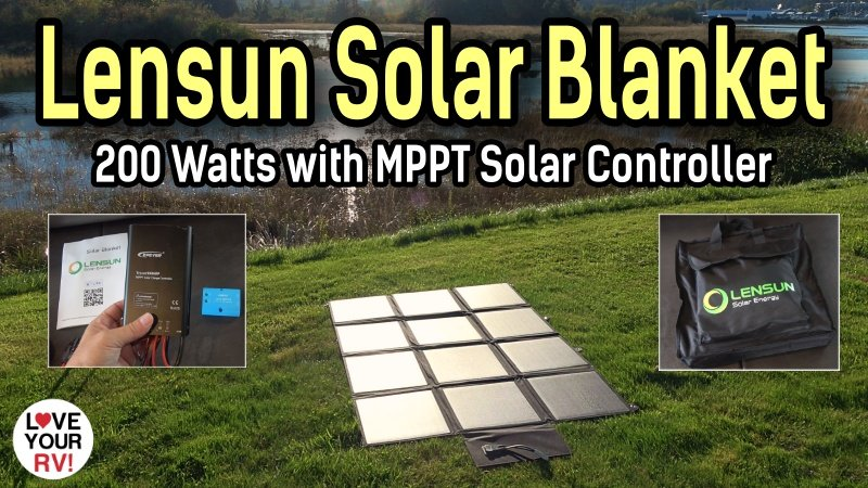 Lensun 200 Watt Solar Blanket Review Feature Photo