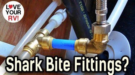 RV Plumbing Repair Using Shark Bite Fittings