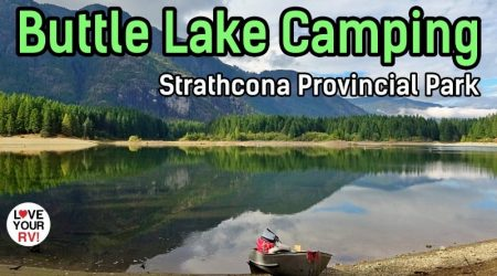 Beautiful Buttle Lake Campground in Strathcona Provincial Park, BC